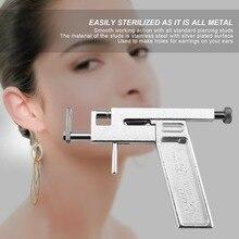 1 Набор, профессиональный пистолет для пирсинга носа уха из нержавеющей стали с 98 шт. сережки-гвоздики украшения, набор инструментов, прочный ящик