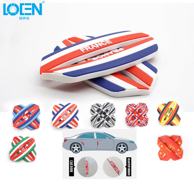 4pc europe flag printing car styling car door anti collision protective car stickers for land