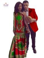 Африканские платья для женщин винтажное платье Slim Fit Мужской Блейзер Пальто и Макси платье Пара Одежда для влюбленных Плюс Размер 6XL BRW WYQ17