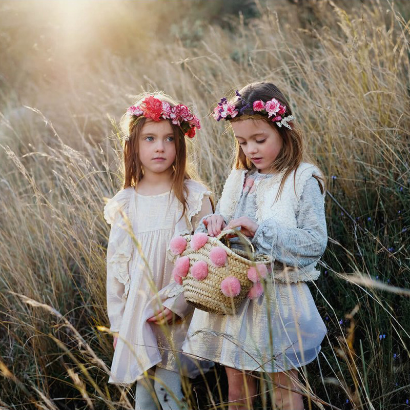 Spain Nobility Dress for Girls Brand Toddler Baby Long Sleeve Dresses Gold Thread Silk Clothes Birthday Party Photo Wear ClothesSpain Nobility Dress for Girls Brand Toddler Baby Long Sleeve Dresses Gold Thread Silk Clothes Birthday Party Photo Wear Clothes