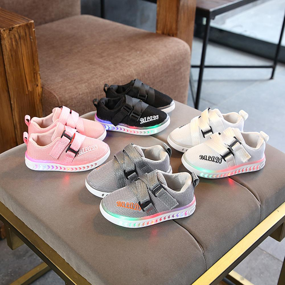 Fashion Kids Child Girls Boys Fashion Sneaker LED Light Anti-slip Casual Shoes Gift(China)
