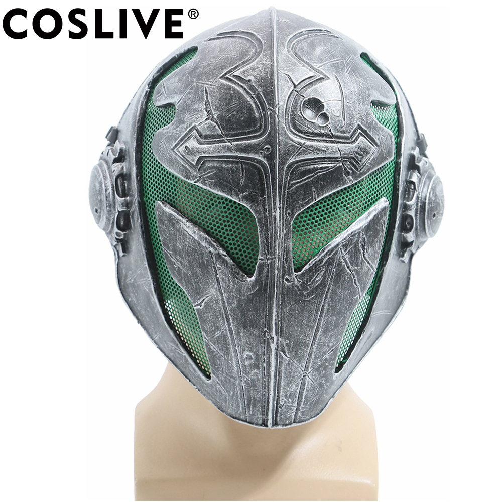 Coslive Hot Sale Knights Templar Airsoft Wire Green Mesh Party Mask Adult Cool Cosplay Costume Props For 2019 Halloween Festival