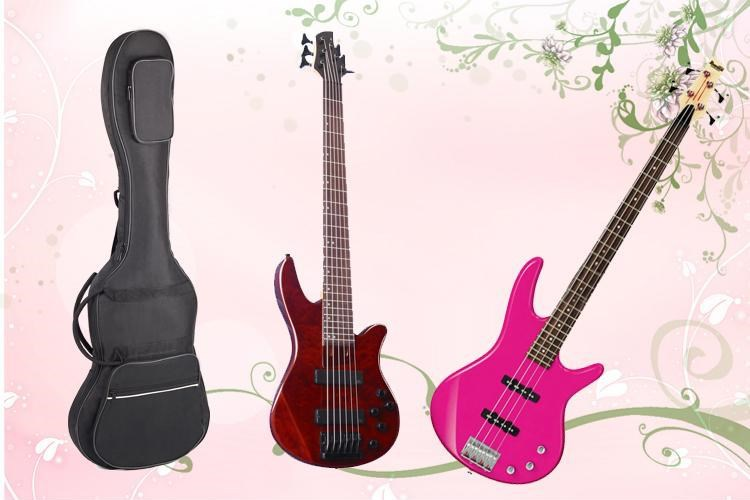Profession general electric bass guitar case gig bag backpack transport holder thicker shockproof waterproof instrument package
