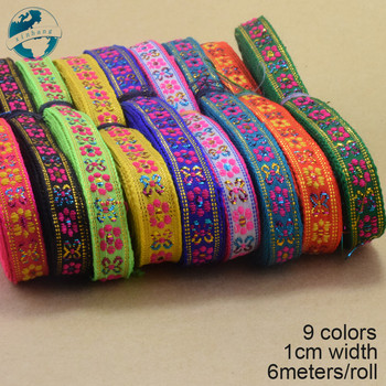 6meters 10mm width, embroidery jacquard ribbons Grosgrain ribbon,lace  ribbons DIY hairbow accessories, sewing wupplies#3737 embroidery