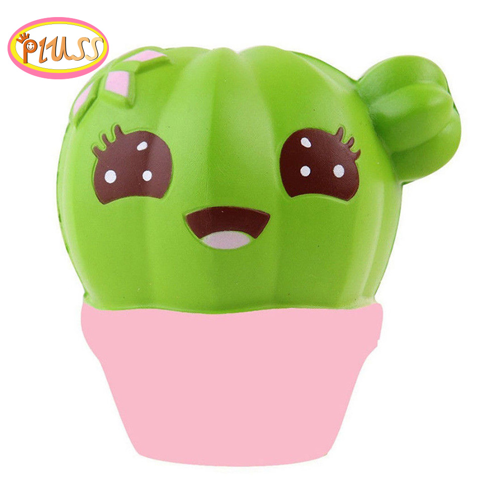 Cute Cactus Soft Squishy Simulation Plant Squishy Slow Rising Squeeze Toy Cream Scented Wholesale Exquisite Kids Xmas Gifts