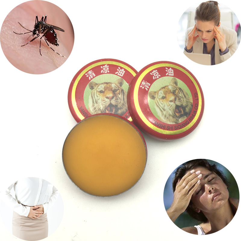 12pcs Chinese Tiger Balm God Medicine Drive Out Mosquito Summer Cooling Oil Refresh Brain Influenza Treatment Headache Dizziness influenza