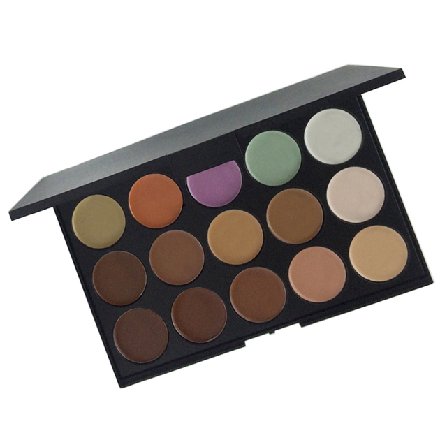 15 Colors Makeup Foundation Concealer Palettes 2