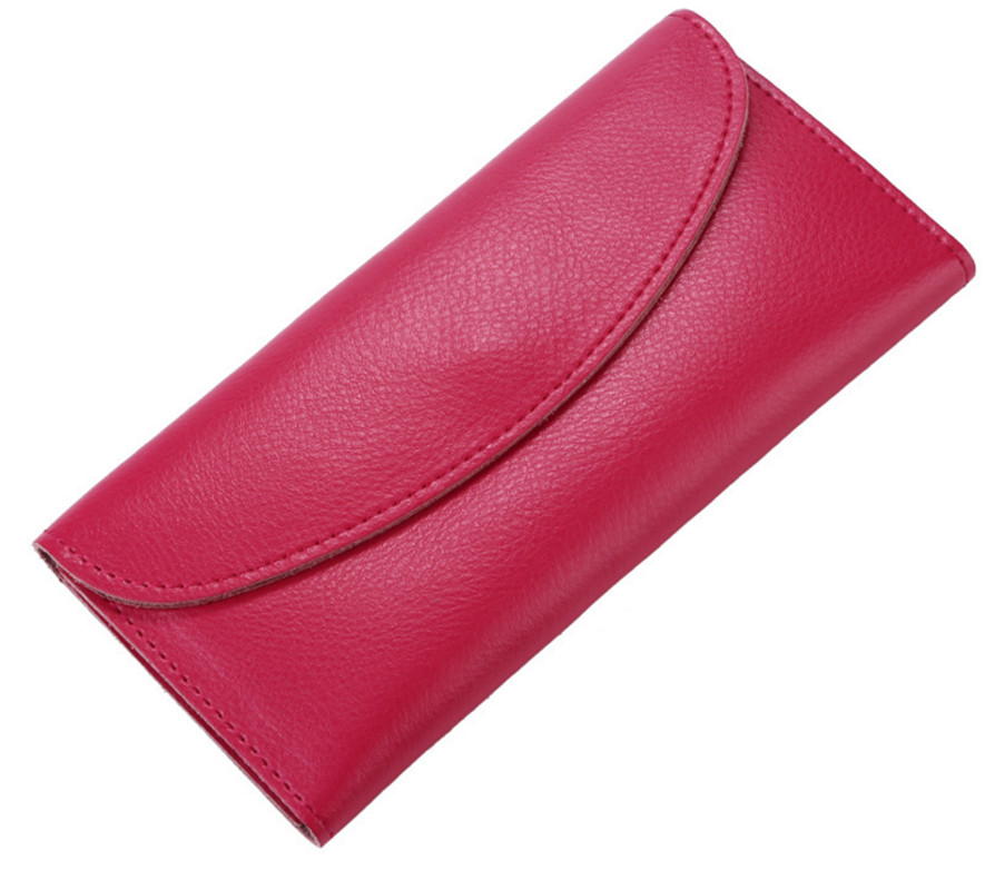 Women's Wallets Cowhide Genuine Leather Clutch Long Wallets Purses For Girl Ladies Money Coin Pocket Card Holder Female Wallets