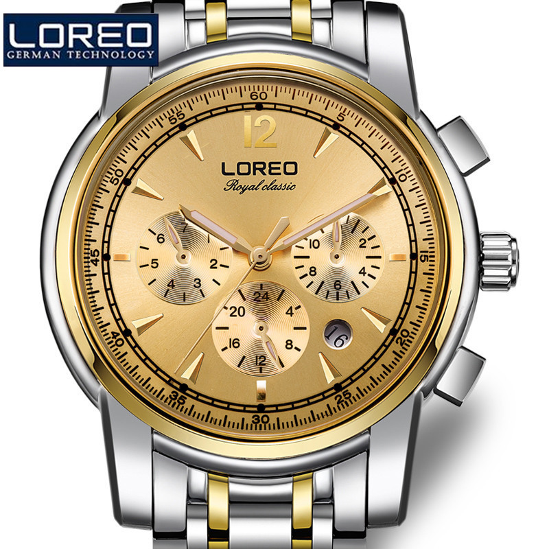 LOREO Watch Fashion Stainless Steel Skeleton Orologio Uomo Mechanical Wristwatch For Men Relogio Feminino Erkek Kol Saati J98 julius quartz watch ladies bracelet watches relogio feminino erkek kol saati dress stainless steel alloy silver black blue pink