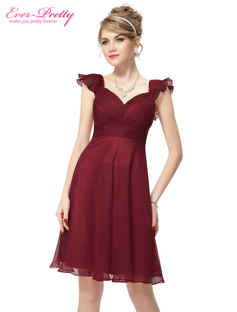 Cocktail Dresses Short Cap Sleeve Red V-neck Short HE03930RD Cocktail Dresses