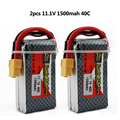 2pcs ZOP Power Li-polymer Lipo Battery 11.1V 1500mAh 3S 40C XT60 For RC Helicopter Car Truck Hobby Drone Parts Bateria