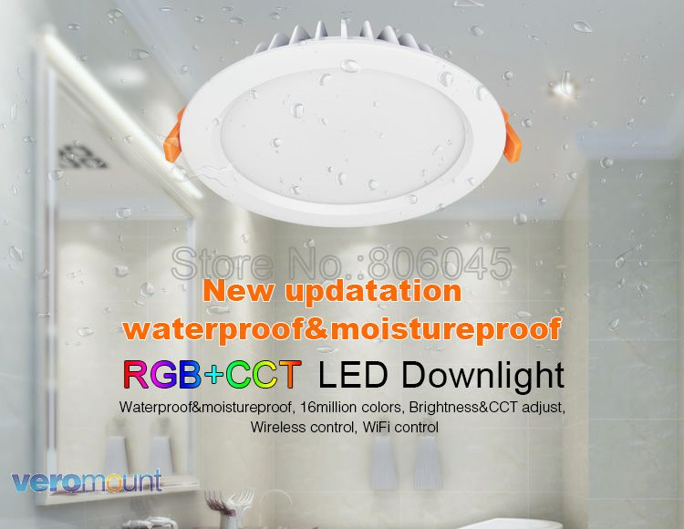 Milight Fut069 15w Led Ceiling Rgb+cct Round Spotlight Ac100-240v Compatiable With Fut089/fut092 Indoor Led Smart Panel Remote Downlights