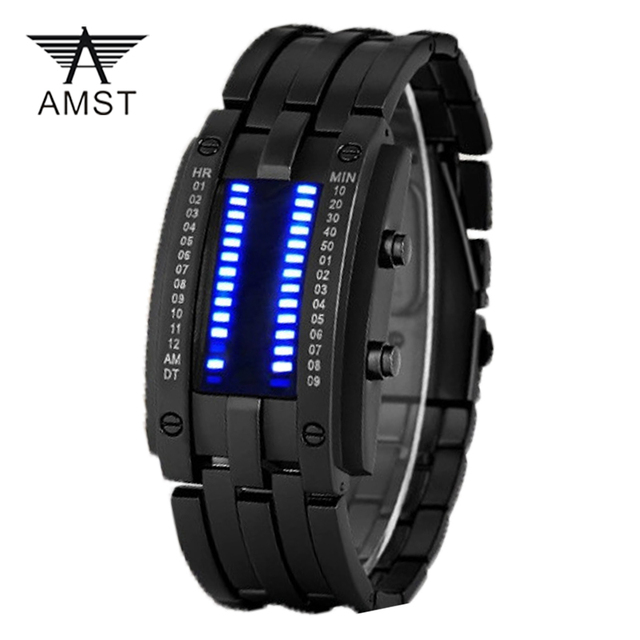 AMST Reloj de Los Hombres de la Marca de Lujo de Cuarzo-reloj Smart Led Azul Relojes de los Deportes de Las Mujeres Reloj de Pulsera Del Relogio masculino Esportivo reloj