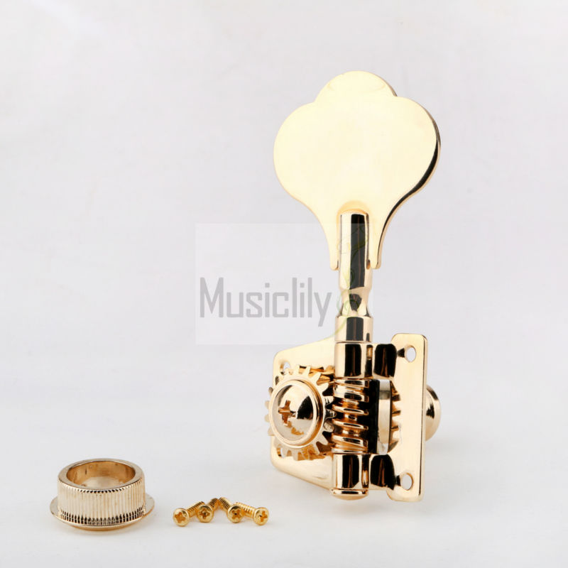 Gold Bass String Open Gear Tuner Tuning Peg Key Machine Head For Left Hand afanti super bilateral bass head tuner ast 156