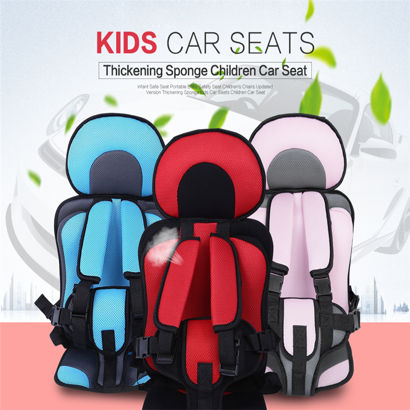 Children Car Seat Infant Safe Seat Portable Baby Safety Seat Children's Chairs Updated Version Thickening Sponge Kids Car Seats