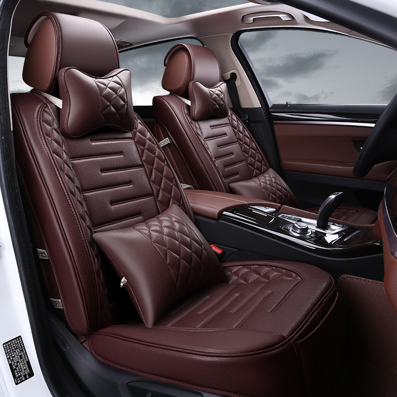Mustang Seat Covers >> High quality Danny Leather Car Seat Cover universal seat Covers black Car Seat Cushion luxury ...