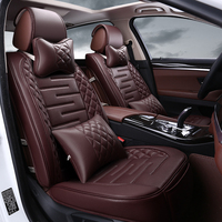 High quality Danny Leather Car Seat Cover universal Car seat Covers black Car Seat Cushion luxury seat pad