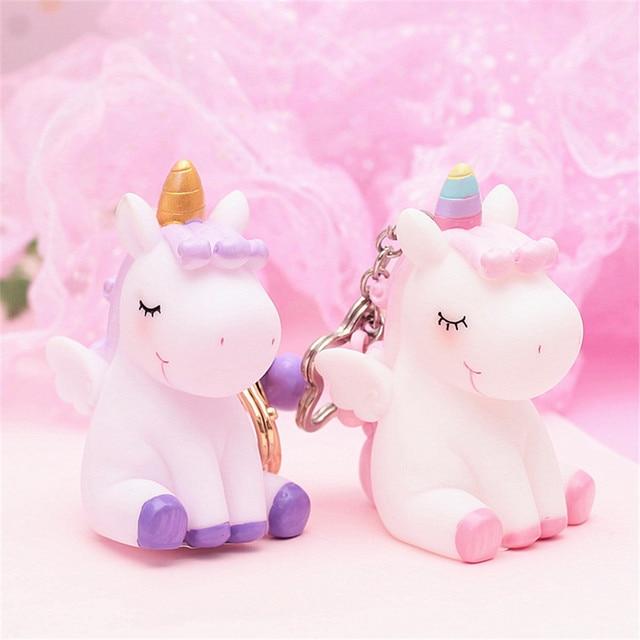 Unicorn Pendant Squeezable Keychain