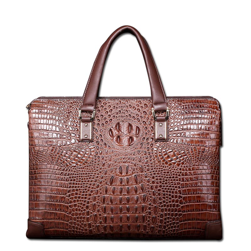 2017 luxury high quality crocodile pattern male briefcase 100% leather business casual men bag shoulder bag Messenger messenger2017 luxury high quality crocodile pattern male briefcase 100% leather business casual men bag shoulder bag Messenger messenger