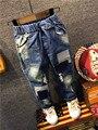 Niños Jeans Niños Chicos Rasgados Pantalones Vaqueros Niños Pantalones de Mezclilla de Moda bebé Infantil Niños Marca Slim Fit Pantalones Casual Jean Niños pantalones