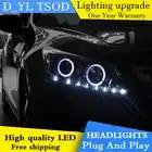 D YL estilo de coche para Honda Accord faros 2008 2013 Accord LED faro DRL Bi Xenon lente de alta luz de cruce estacionamiento antiniebla - 2