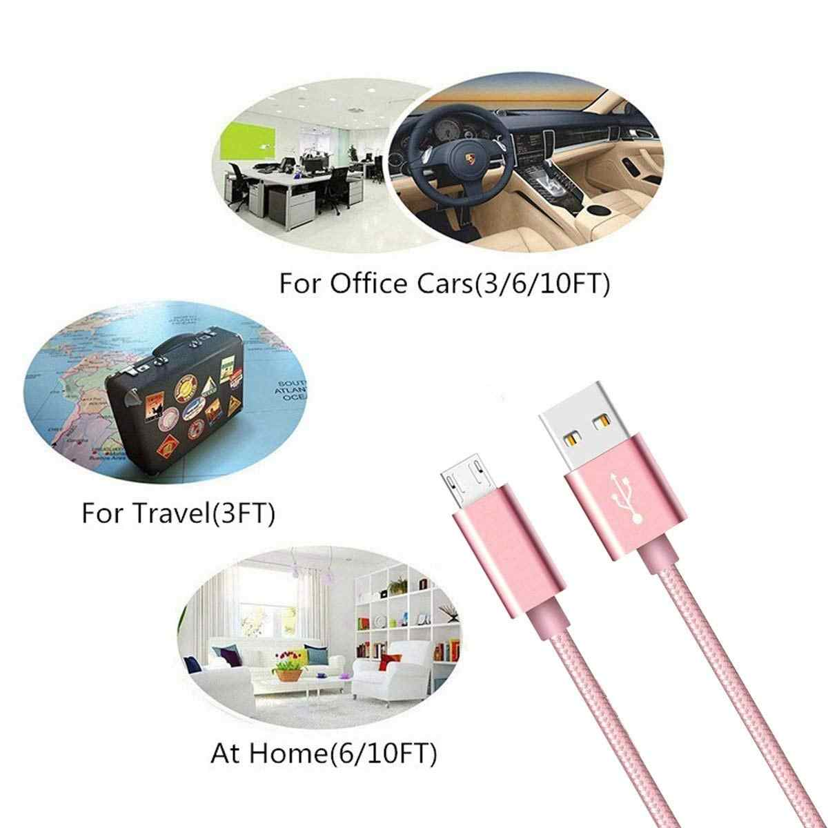 Micro USB USB Android Charger for Samsung Galaxy A7 2018 A3 A5 2016 J7 J4 A2 Core M10 Braid High Speed Sync fast Charging Cord