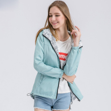 New Fashion Autumn Hooded Womens Windbreak Jacket Big Size Loose Top Basic Coat