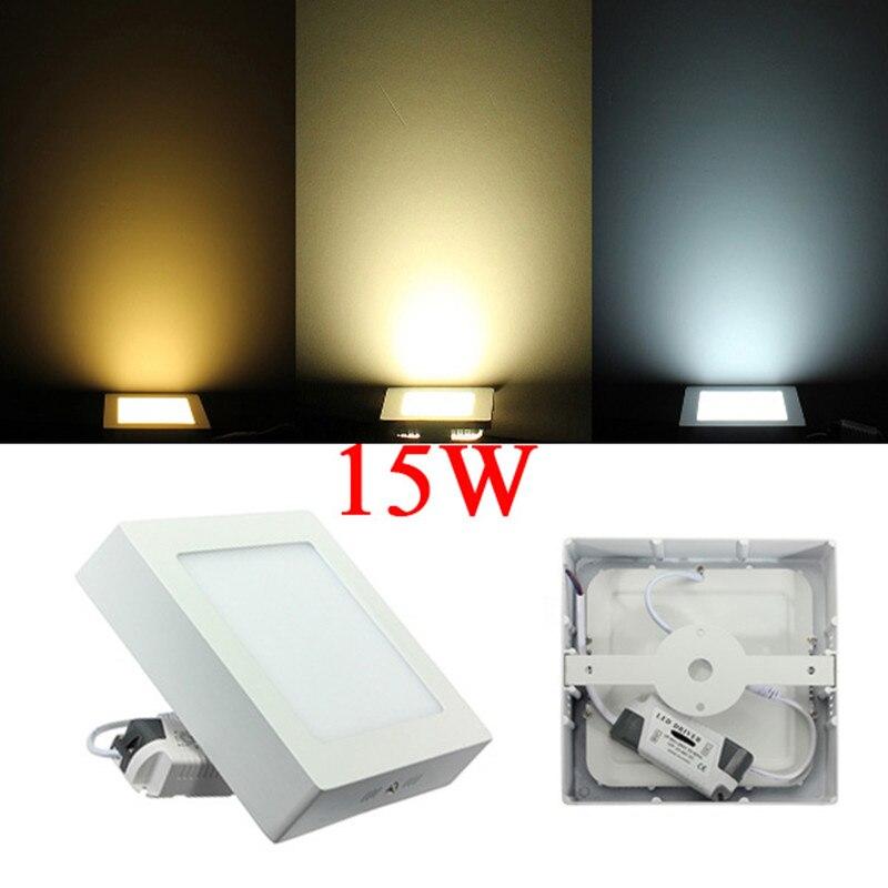 22 шт. 9 Вт квадратный светодиодный панельный светильник поверхностного монтажа светодиодный потолочный светильник AC85 265V + светодиодный дра... - 4