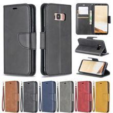 цена на HUANGTAOLI PU Leather Flip Wallet Cover Case For Samsung Galaxy S10 PLUS NOTE 9 A7 A6 PLUS 2018 A6 PLUS A6 2018 A3 A5 2017 Case