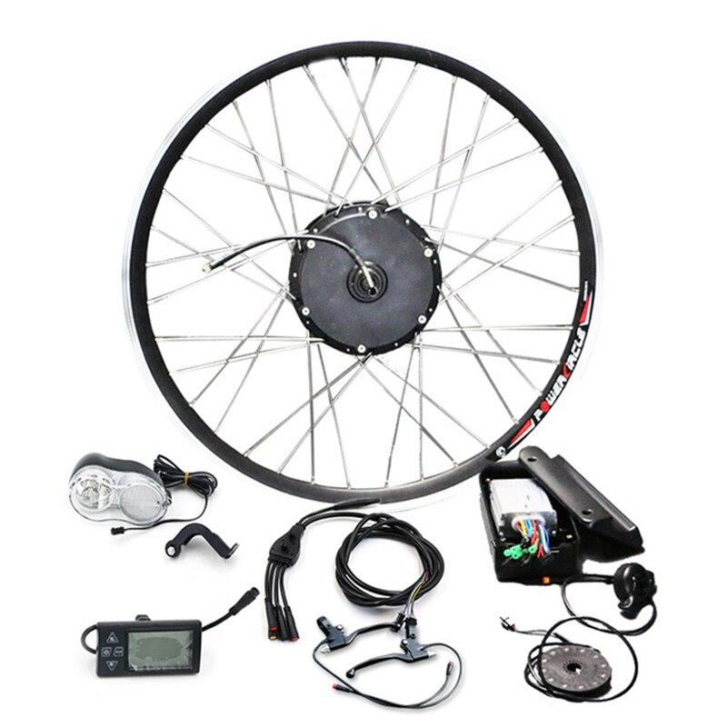 Livraison gratuite 36 V 250 W 350 W 500 W Kit de vélo électrique avec moteur de moyeu sans brosse sans batterie 20 ''26'' 700C Kit de roue de moteur Ebike-1