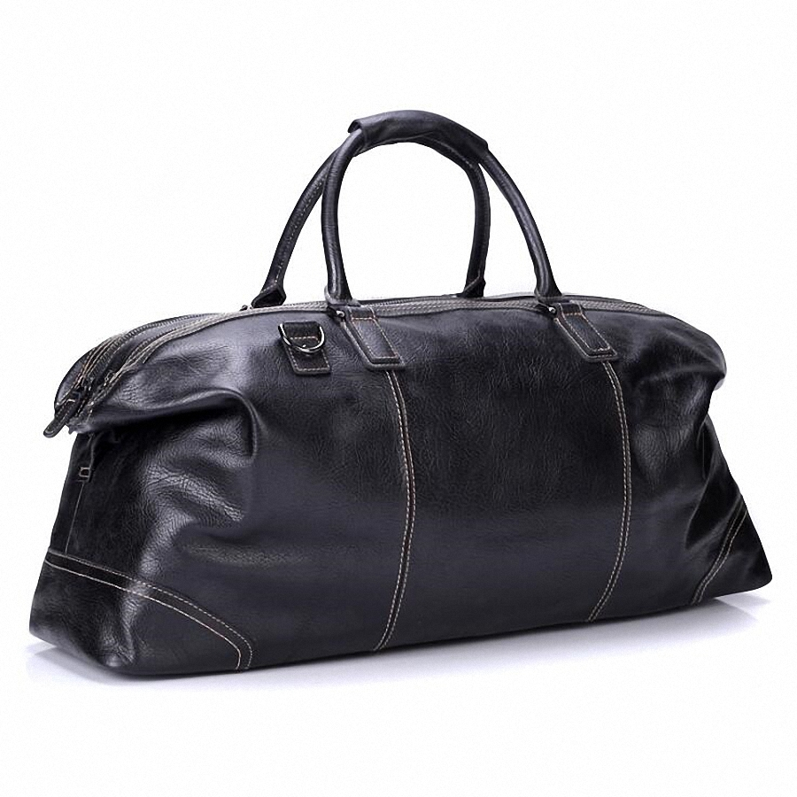 Fashion Genuine Leather Travel Bag Men's Leather Luggage Travel Bag Duffle Bag Large Tote Weekend Overnight Bag LI 1926 - 2