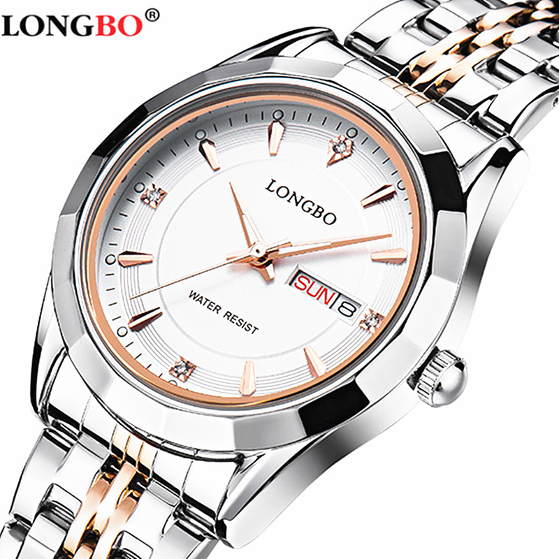 LONGBO Brand Movt Quartz Watches Women Stainless Steel Waterproof  Men's Wrist Watches relogio masculino new brand movt 00805516