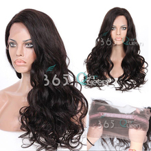 8A Soft 360 Full Lace Frontal Closure Brazilian Virgin Hair Loose Body Wave #1B Natural Hairline With Adjustable Straps