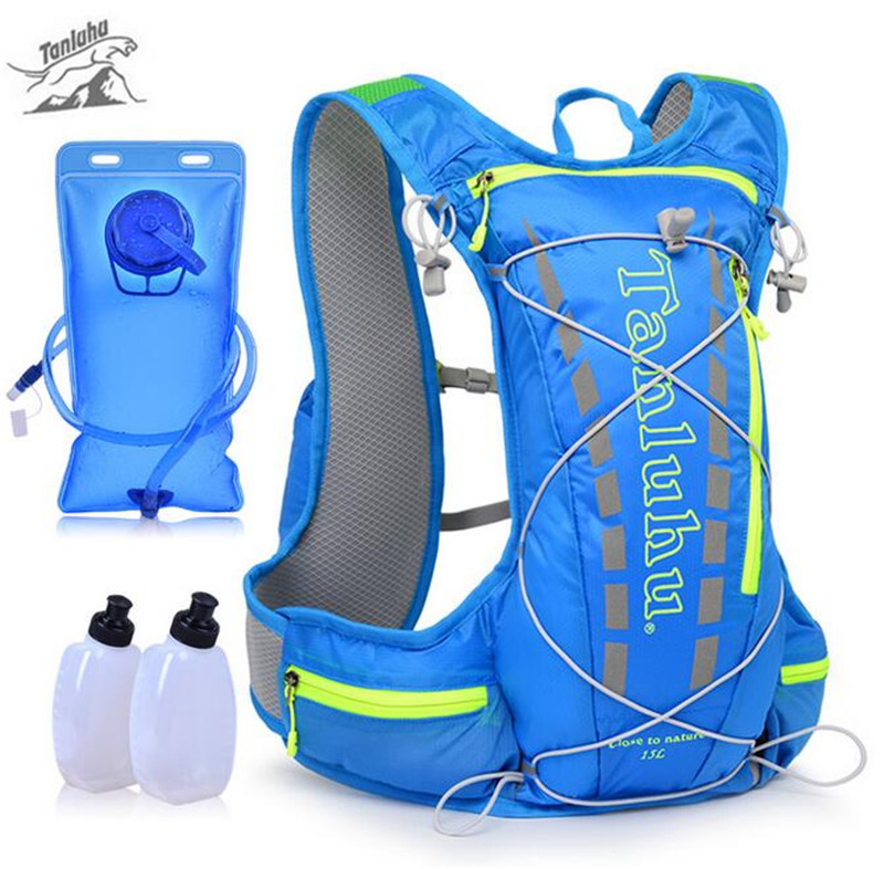 TANLUHU 15L Running Backpack Trail Racing Hydration Vest Pack Outdoor Camping Hiking Running Water Hydration Backpack Sport Bag