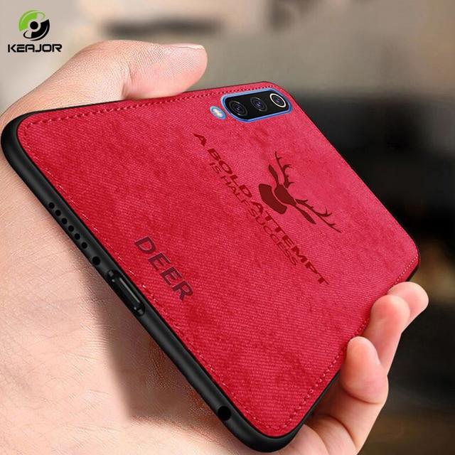 Keajor Luxury Phone Case For Samsung Galaxy A70 Case Classic Fabric Bumper Funda Back Cover For Samsung Galaxy A10 A20 hoesjes