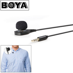 BOYA BY-HLM1 Pin Mount Style Omnidirectional Condenser Microphone with Windscreen for Canon Nikon Sony DSLR Camera Camcorder