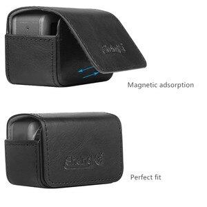 Image 3 - Sacchetto di cuoio caso Portatile interruttore Magnetico sacchetto di immagazzinaggio per dji osmo action macchina fotografica di sport Accessori