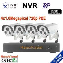 Cheap!4CH NVR Security System Onvif POE Surveillance CCTV System NVR Kit 4ch 720P IR Cameras CCTV System 4ch NVR Kit Support P2p