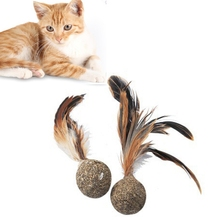 2019 Pet Cat Catnipoy Feather Shuttlecock Design Chewing Healthy Interactiveeaseoy And Non-Toxic Supplies