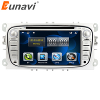 Eunavi 2 Din 7 inch Car DVD Player Radio GPS Navigation for FORD/Focus/S MAX/Mondeo/C MAX/Galaxy Stereo Video Bluetooth in dash