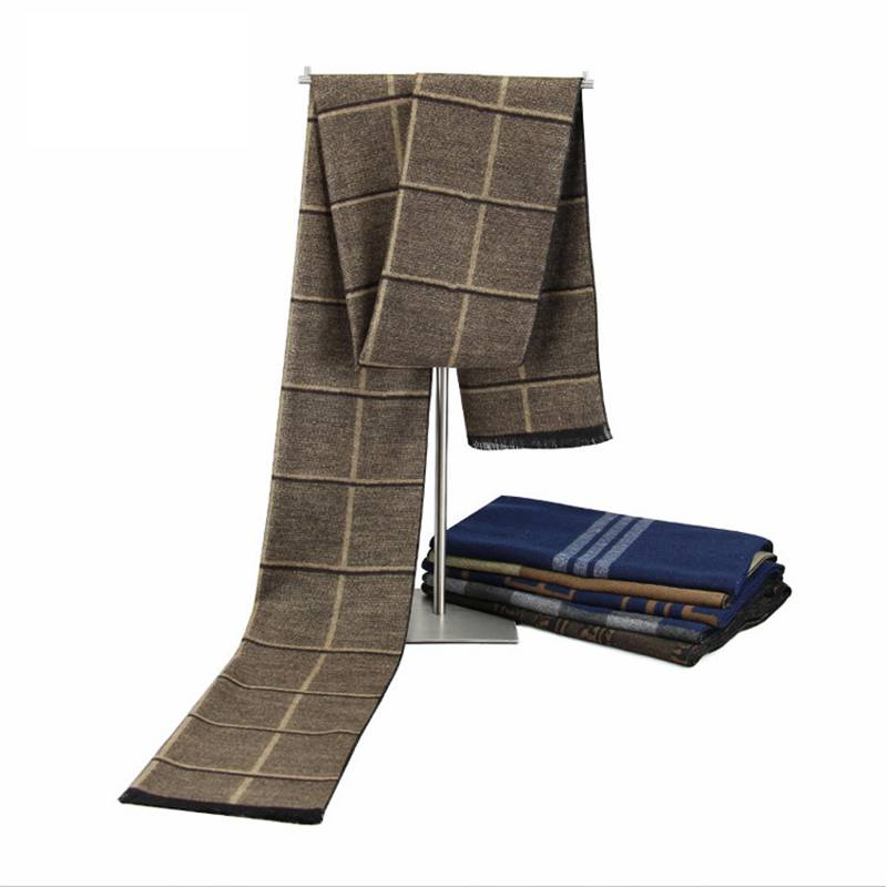 Trendy Plaid Scarfs Men Winter Warm Thick Cashmere Scarf Luxury Brand font b Tartan b font
