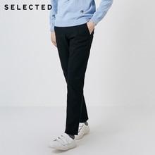 Wybrane męskie spodnie zimowe Slim Fit spodnie w jednolitym kolorze S