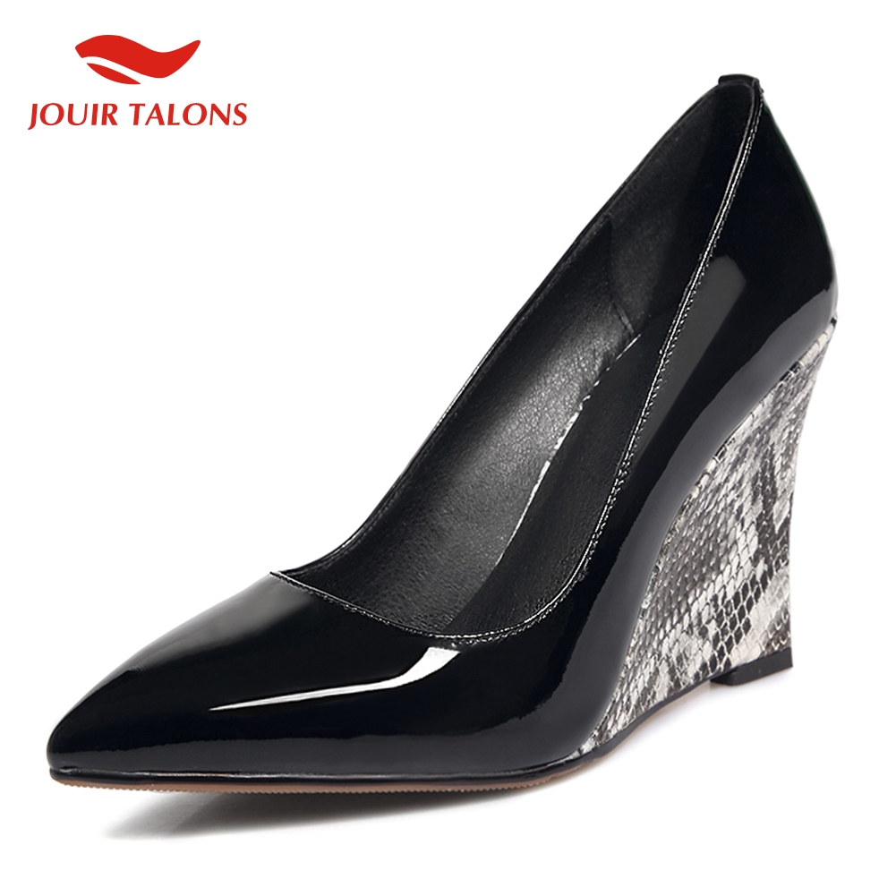 hot sale patent leather slip on party wedding pumps woman shoes wedge high heels pointed toe shoes woman pumpshot sale patent leather slip on party wedding pumps woman shoes wedge high heels pointed toe shoes woman pumps