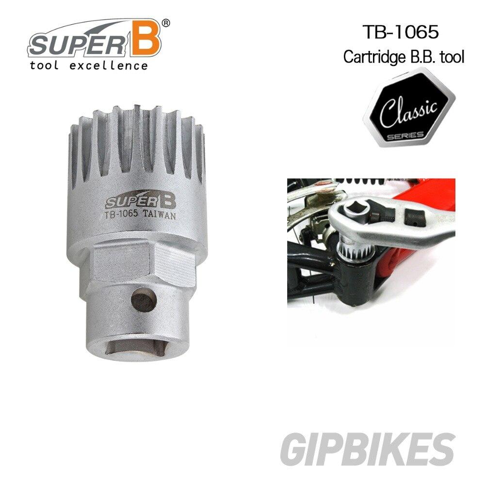 Super B TB-1065 Bottom Bracket Socket Tool Shimano Cartridge ISIS Bike BB