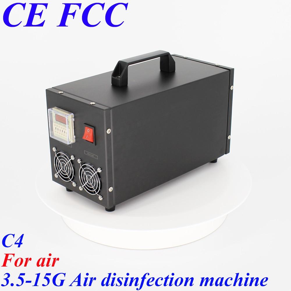 Pinuslongaeva C4 para air 3.5g 5g 7g 10g 15 g/h Portáteis de aço inoxidável shell de ar o ozono máquina de desinfecção por ozônio purificador de ar