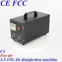 Pinuslongaeva C4 pour l'air 3.5g 5g 7g 10g 15 g/h Portable en acier inoxydable shell ozone air désinfection machine ozone purificateur d'air