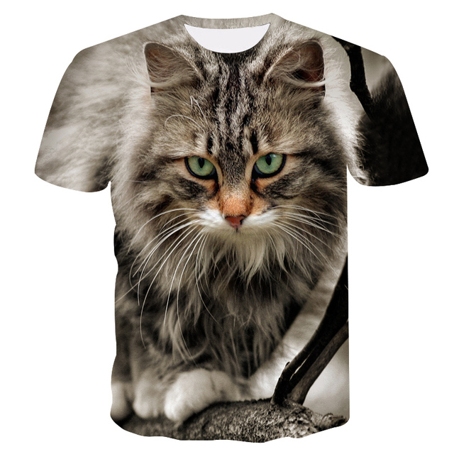 4d6e65aef ZOOTOP BEAR Fashion Funny Cat T-Shirt Cat In Paradise On A Slice Of Pizza  Palm Tree Hilarious Summer 3d T Shirt Women Men M-5XL