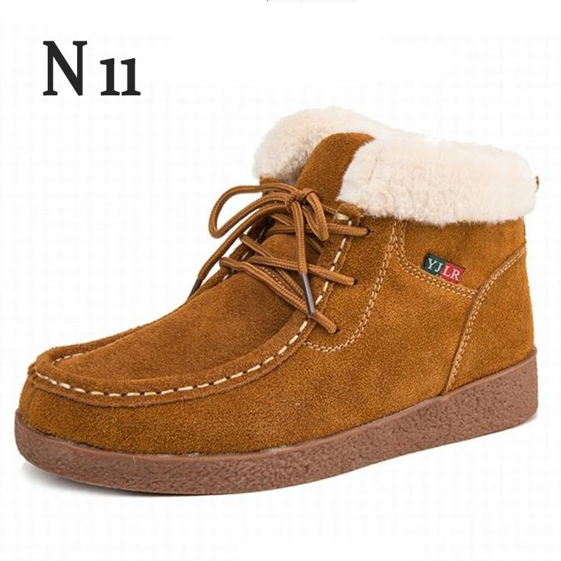 N11 Women Winter Boots Suede Warm Platform Snow Ankle Boots Women Casual Shoes Round Toe Female Botas Mujer Women's Snow Boots aphixta women winter boots flat with warm platform snow ankle boots women shoes round toe female fur butterfly knot botas mujer