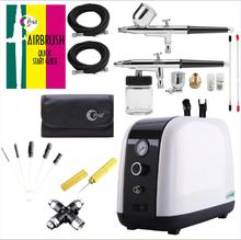 OPHIR Airbrush Compressor Kit Body Art Tattoo Facial Skin Care Gun Kit Air Compressor for Beauty Salon Skin Care AC057+ стоимость