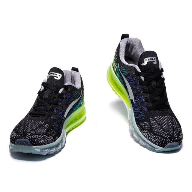 Onemix men's sport running shoes music rhythm men's sneakers breathable mesh outdoor athletic shoe light male shoe size EU 39-46